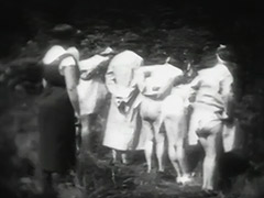 Horny Mademoiselles get Spanked in Woods 1930 tube porn video