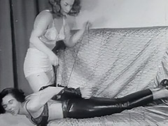 Bonded Girl gets Spanked by Mistress 1950