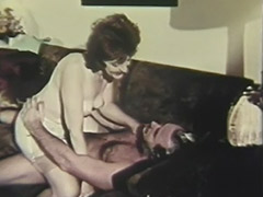 Old Man Fucking Mature Lady on the Couch 1960 tube porn video