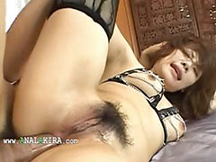 sexy asian anal fucking with panties