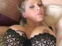 Lady, Aged, Bed, Bedroom, Blowjob, Boobs