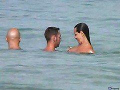 Nude beach three some