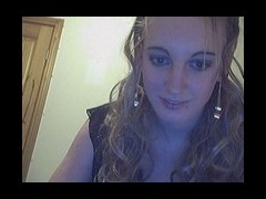 Stockinged blonde on cam