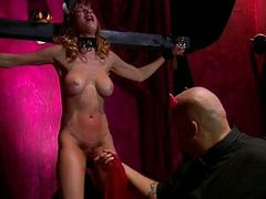 Submissive slave hard fetish spanking and playing