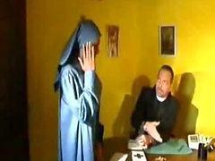 Desperate Nun fucked in disguise tube porn video