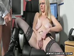 Busty amateur milf fucks assistant tube porn video