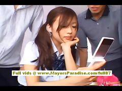 Miyu Hoshino asian schoolgirl enjoys getting pussy fingered tube porn video