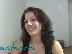 Natural czech brunette lapdances