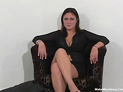 Chubby chick screwed by black and white cock