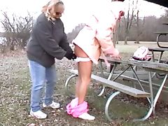 Sissy Slave's Lil Ass Warmed On A Cold Day