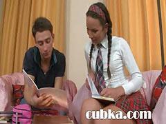 sleek lesson of beautiful russian teen