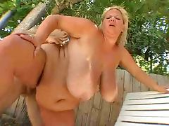 Big tits and bouncing belly tube porn video