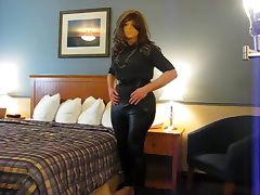 Shiny Leggins Crossdresser tube porn video