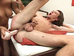 Ass hole fucked by dildo
