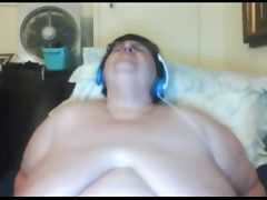 BBW Granny masturbating on webcam
