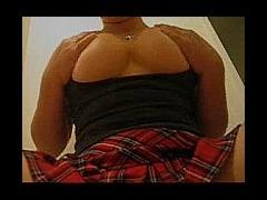 Plump Amateur Girl Masturbating Plump amateur girl masturbates on cam using a funny vibrator toy tha