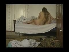 Hot blonde owned Horny blonde chick joins her boyfriend in the bed to have a wild fuck session with