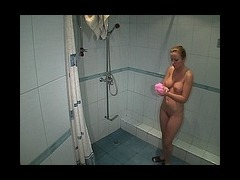 This lusty blonde lusty blonde can spend hours in the shower room cause she really feels like water
