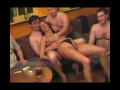 Nasty group fuck on cam Dirty dolls and their kinky guys arrange some kind of a student party But it
