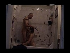 My ex girlfriend and I playing in the shower