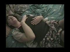 Temptress in black stockings