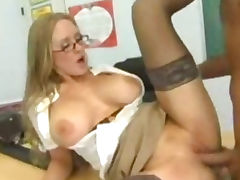 Busty Teacher nailing her Student