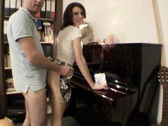 Fucking a piano teacher Following a nice and classy piano lesson the student becomes the teacher whe