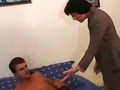 Grandma Wakes Up Young Man For Anal Action porn tube video
