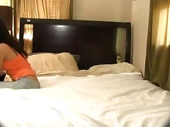 Caught, Amateur, Bed, Bedroom, Blowjob, Brunette