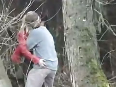 sweet blonde fucked in the forest