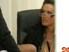 Peeping Lesbians in the Office tube porn video