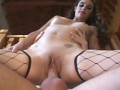Brunette having fun for a hard sex tube porn video