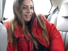 HOT GIRL n86 french hairy on a car