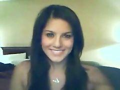 cute brunete on webcam