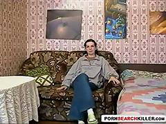 Russian Nerdy Teen tube porn video