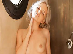 Shaving of shocking 18yo blonde pussy