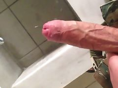 Me jerking off in the army tube porn video