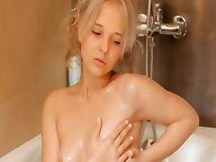 Shaving of beautiful 21yo blonde pussy
