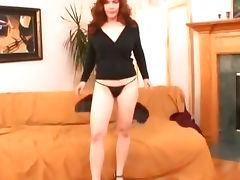 Redhead mom sucking and fucking tube porn video