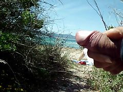 public masturbation cum on the beach tube porn video