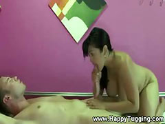 Asian masseuse rides her customers dick tube porn video