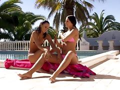 Bronzing Duo Gets Sexy In a Lazy Afternoon