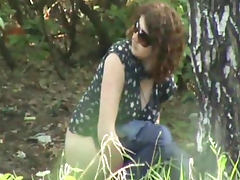Voyeur pissing outdoors with glasses girl tube porn video