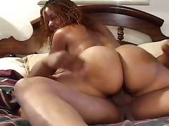 Big booty ebony gets pounded hard