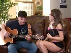 Beautiful Anthony Rosano fucks her guitar instructor tube porn video