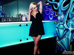Lou Lou the blonde hottie gets threesomed in night club
