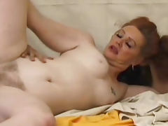 Curvy redhead mature nailed in hairy box