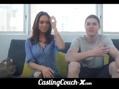 CastingCouchX stupid dumb whore 18yo tries porn