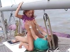 Randy Couple Fucking On A Boat