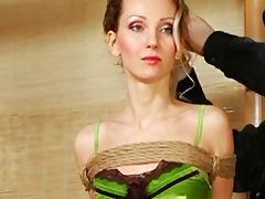 Skinny girl in pretty lingerie bound porn tube video